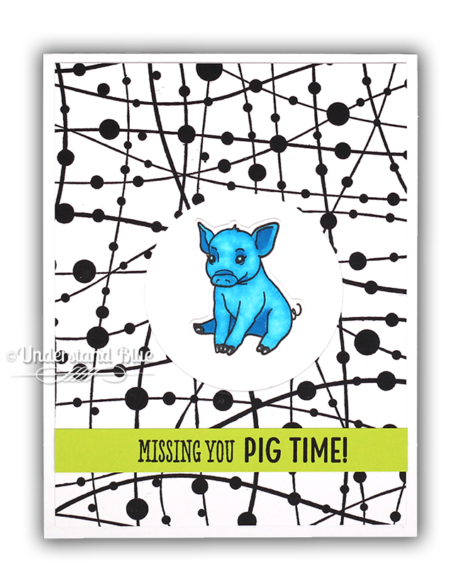 Missing You Pig Time Card by Understand Blue