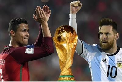 CR7, Cristiano Ronaldo, Lionel Messi, Argentina vs Portugal, Messi vs Ronaldo, Ronaldo vs Messi, Russia World Cup, Piala Dunia 2018,