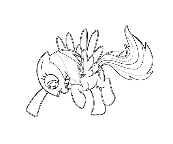 My Little Pony Rainbow Dash Colouring Pages Colorings Net