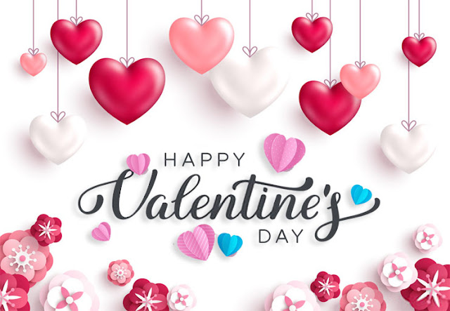 Valentine's Day Images hanging hearts pink love hearts