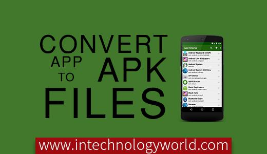 convert app to apk files