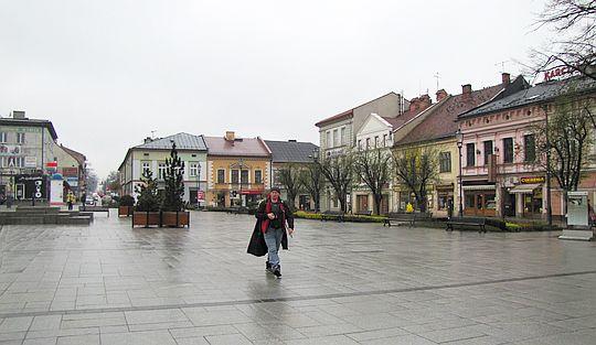 Plac Jana Pawła II w Wadowicach.