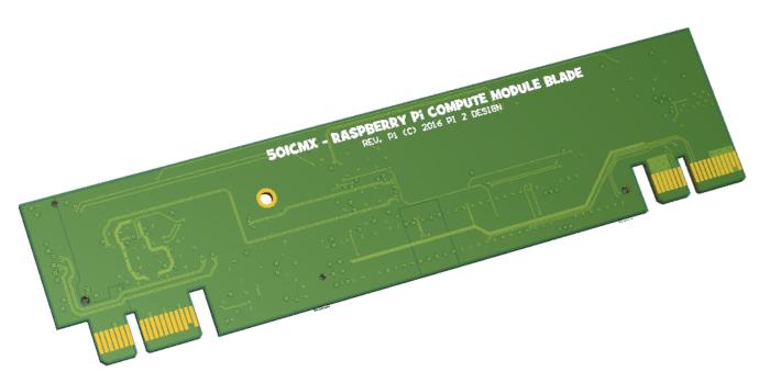 Raspberry Pi Compute Module 3 cluster blade
