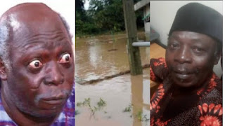 Nollywood Actor, Pa James' Son Cries Out For Help As Flood Takes Over His House
