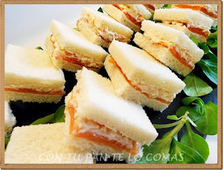 Canapes de salmon con bocadelia