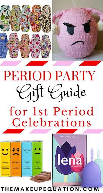 First periods can be tough. Why not lift some of that burden and celebrate them with a period party, also known as a First Moon party?  Here are some thoughtful and practical gifts for a first period party. #periodparty #firstmoonparty #party