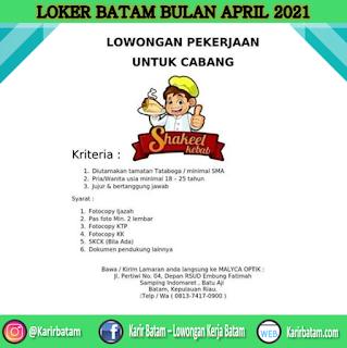 Lowongan Kerja Shakeel Kebab (April 2021)