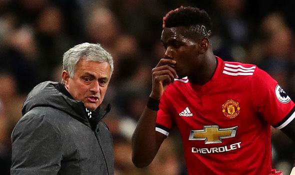 Jose Mourinho And Paul Pogba