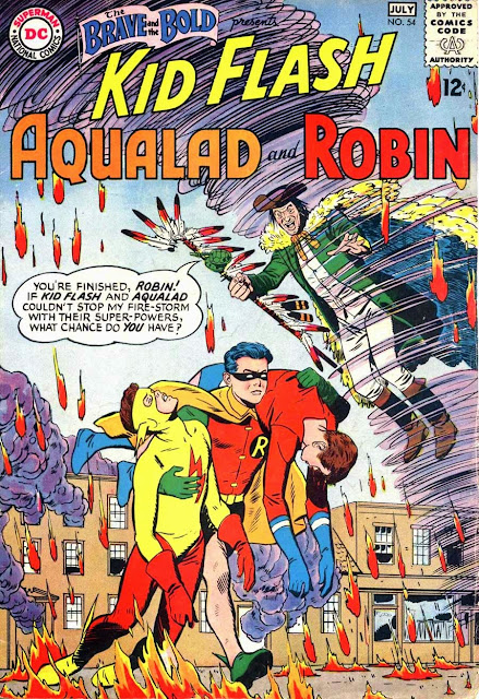 Brave and the Bold v1 #54, 1964 dc silver age comic book cover - 1st Teen Titans