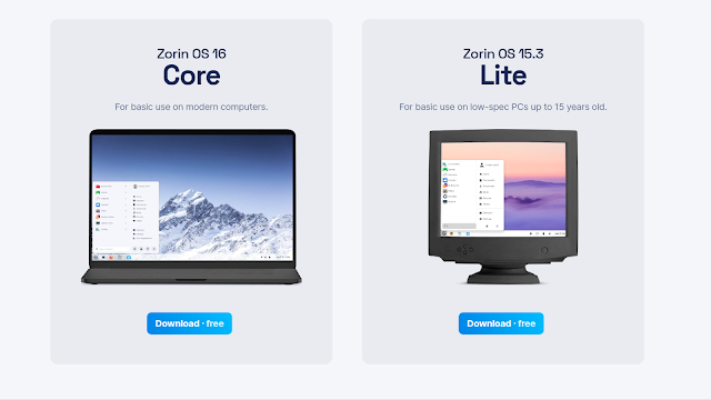 Zorin OS está disponível nas versões Core e Lite