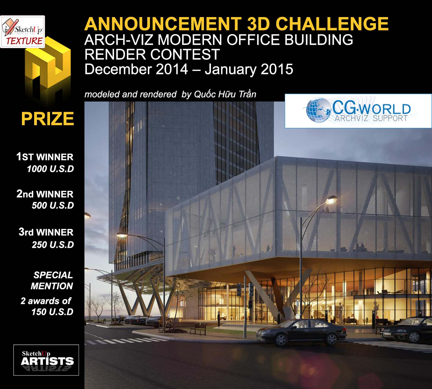 3D Challenge Arch-viz Modern Office Building international render contest