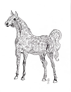 Free Printable Horse Coloring Page 3