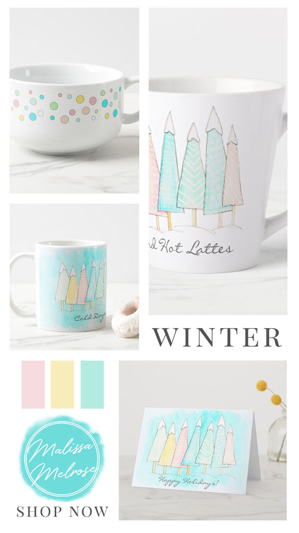 product grid image of whimsical winter collection