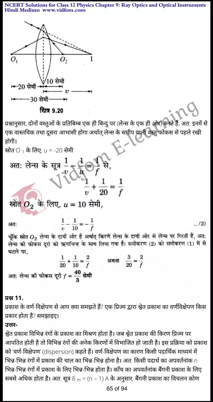 class 12 physics chapter 9 light hindi medium 65