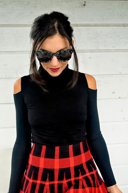 Tartan Skirts & Turtlenecks
