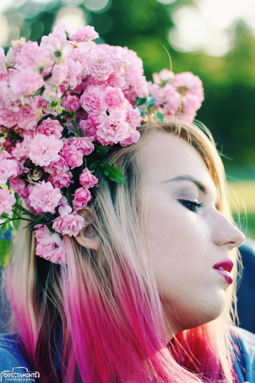 ombre hair pink and blue