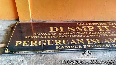 Prasasti Nameboard Granit, Jasa Pembuatan Prasasti Nama Gedung, Harga Prasasti Granit