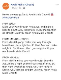 Ayala Malls Circuit directions