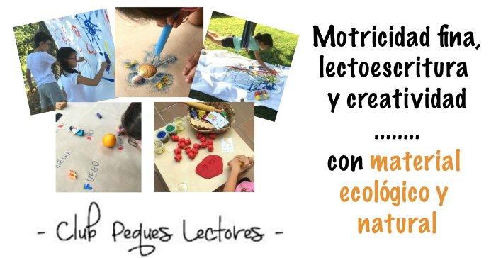 manualidades niños creatividad, lectoescritura materiales ecológicos naturales