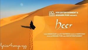 HEER LYRICS – Simar Kaur | Punjabi Song Video