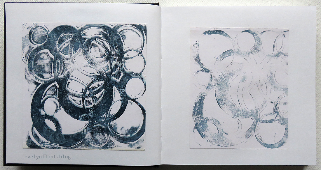 INDIGO CIRCLES IN SKETCHBOOK