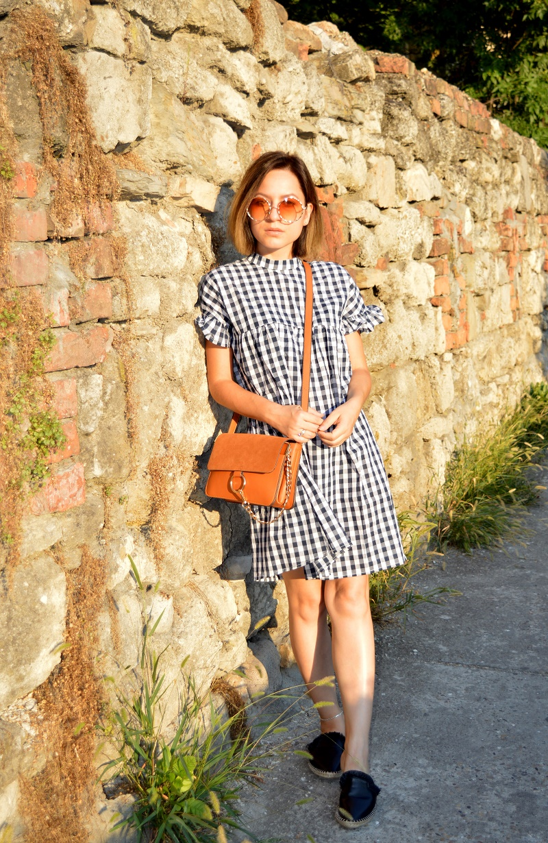 gingham dress shein