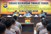 Kapolda Sulbar Berikan Motivasi pada Puluhan Personil yang Ikuti Sidang Kelulusan SIP
