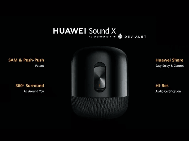 Huawei Sound X Hi-Res AI Speaker co-engineered with Devialet now official
