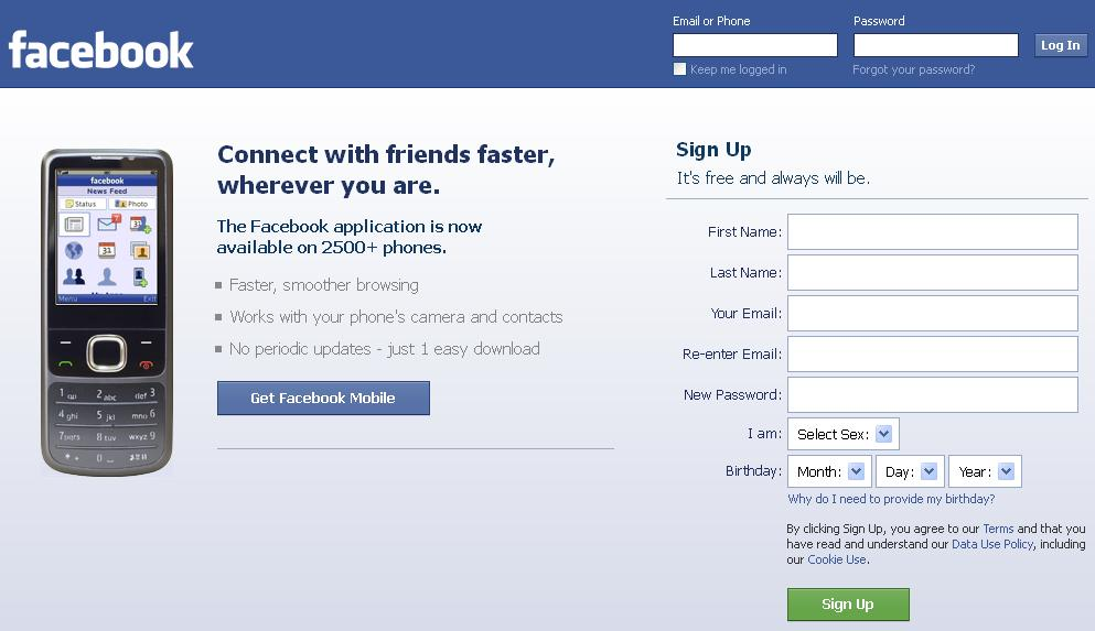 Old Face Book App
