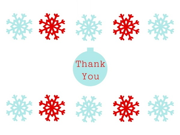 Christmas Thank You Cards - Slim Image