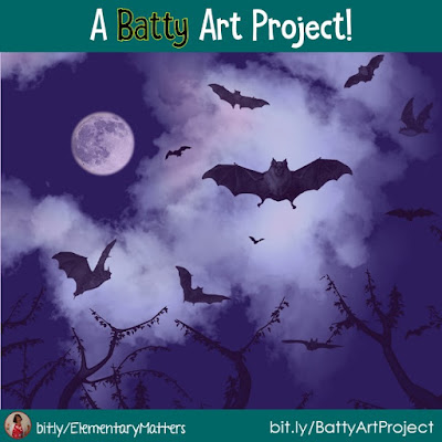 A Batty Art Project: Here are step by step direction a fun bat art project to integrate literacy with the arts. Plus, the kids love it!