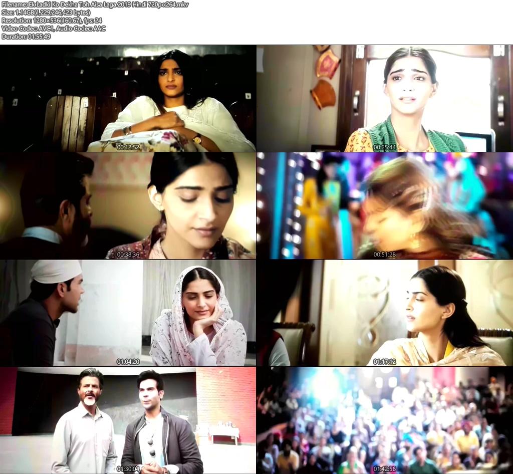 Ek Ladki Ko Dekha Toh Aisa Laga 2019 Hindi 720p x264 | 480p 300MB | 100MB HEVC Screenshot