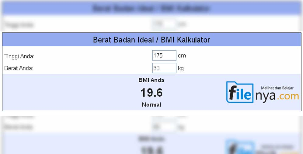 Kalkulator Index Jisim Badan