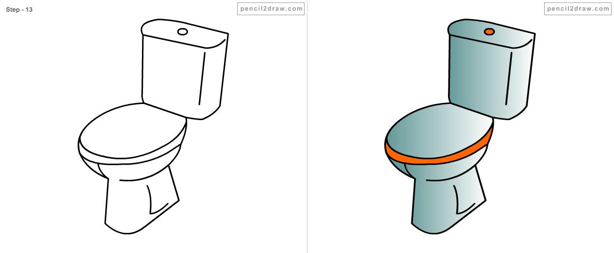 bathroom drawing for kids. Black Bedroom Furniture Sets. Home Design Ideas