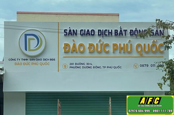 Làm bảng hiệu Alu Sàn giao dịch bất động sản Phú Quốc