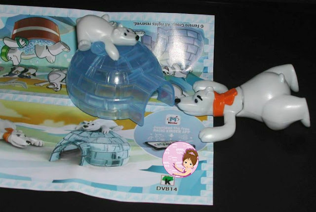 Polar Bear DVB14 from Kinder Maxi egg