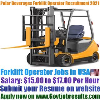 Polar Beverages Forklift Operator Recruitment 2021-22