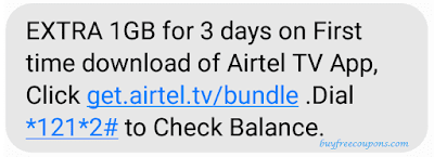airtel 1gb data for 3 days