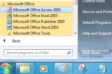Cara Membuat Database Access & Tabel dengan Access 2003