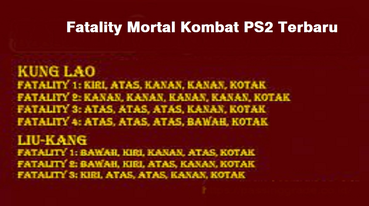 Fatality Mortal Kombat PS2