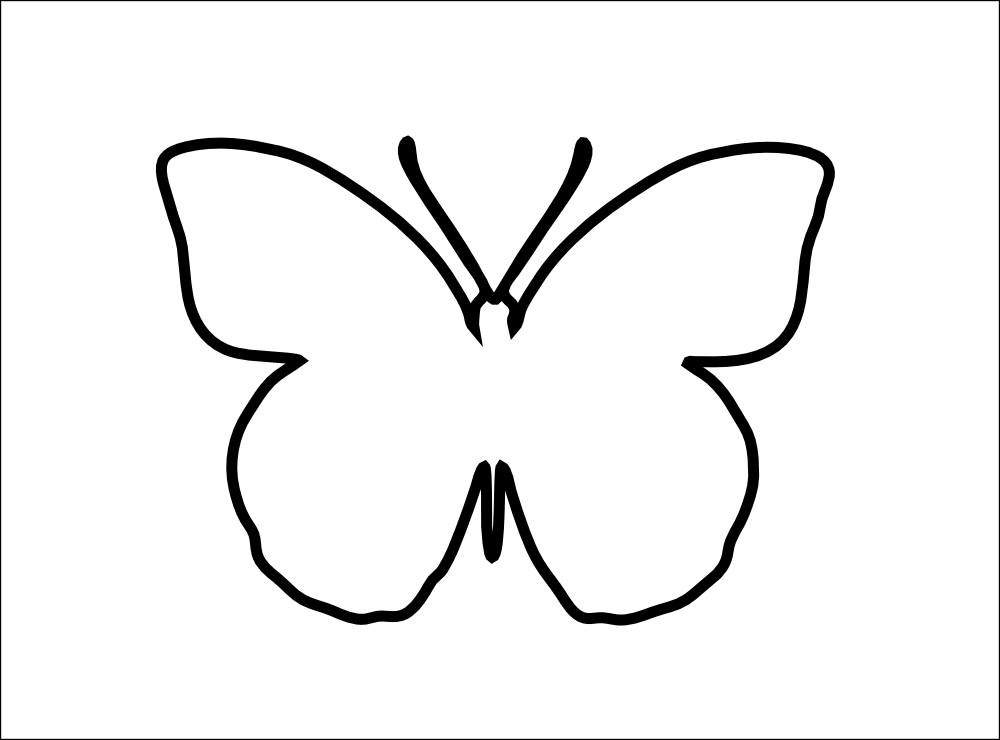 Easy butterfly template for Martha stewart butterfly template