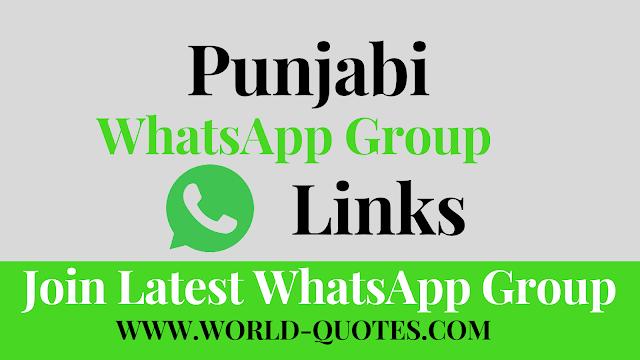 WhatsApp Group invite links for Punjabi.
