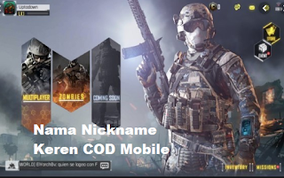 Nama Nickname Keren COD Mobile dan Unik Di Call Of Duty Mobile
