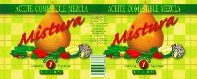 diseño gráfico de etiqueta de aceite comestible
