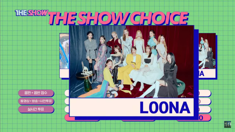 LOONA's 'Paint The Town' Wins The First Trophy on 'The Show'