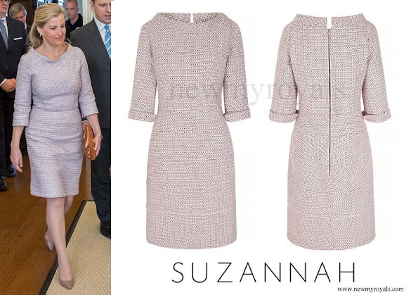 Countess Sophie of Wessex wore SUZANNAH Kaleidoscope Neat Tweed Dress