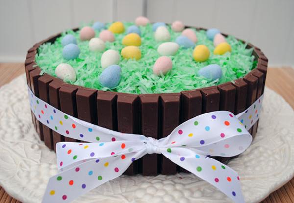Easter Angel Food Cake