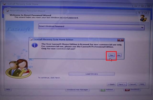 حل مشكلة نسيان كلمة سر الويندوز حذف باسورد ويندوز عند نسيانه دون فورمات lazesoft recovery suite