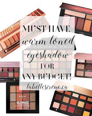 Sunsets & Shooting Stars | Must Have Warm Toned Eyeshadow Palettes For Every Budget | Suggestions & Recommendations | labellesirene.ca