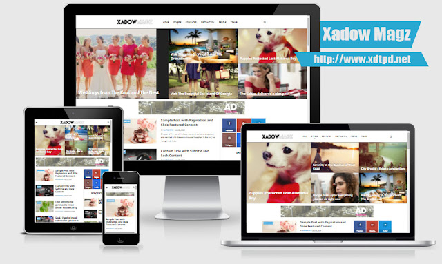 XadowMagz Responsive Theme for Blogger